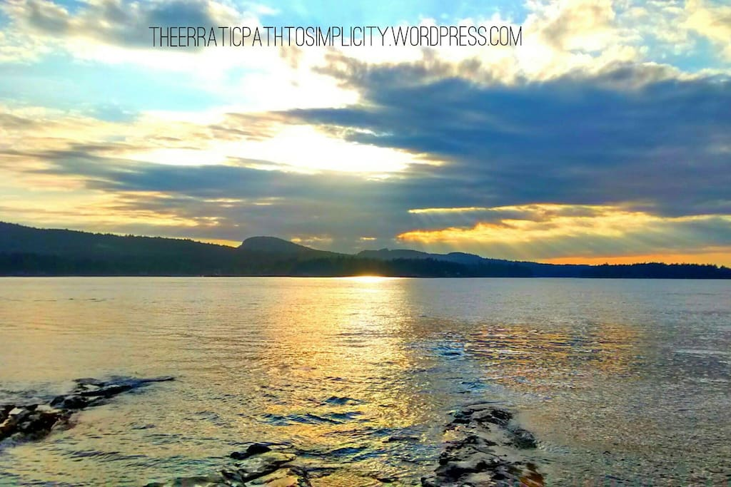 View from Georgina Point Lighthouse at sunset - magical!