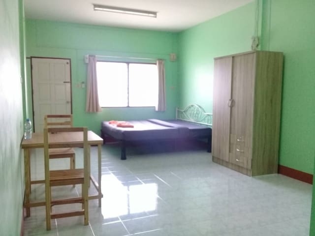 Basic room with air-conditioning ,Cheap transport