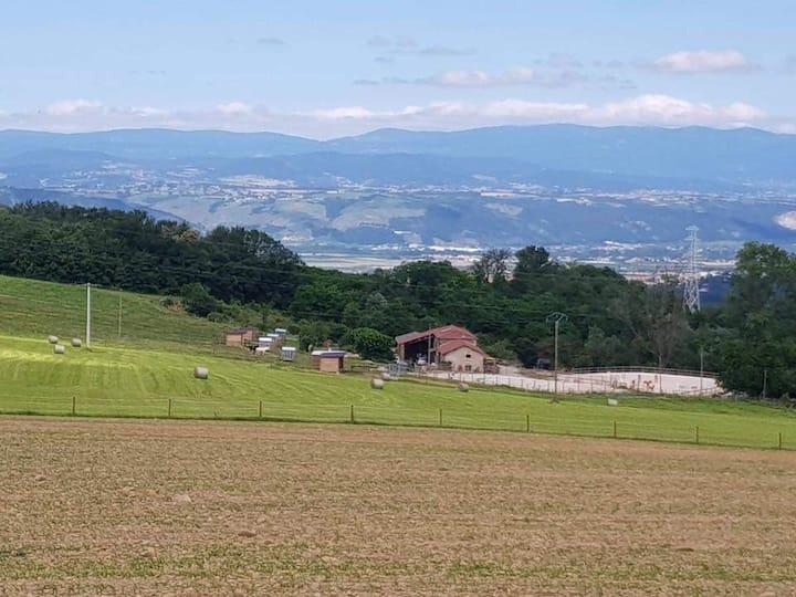 Gîte de charme à la ferme en Drôme des collines