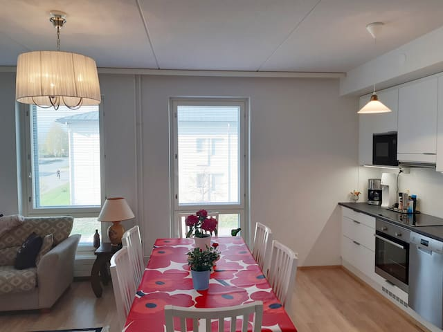 Beautiful, new 2-room apartment 10 min from center
