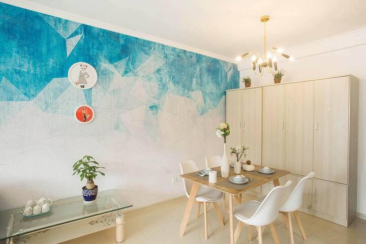 《城市之光》友好+北园春+农大高档小区现代简约大飘窗两居室,可接送