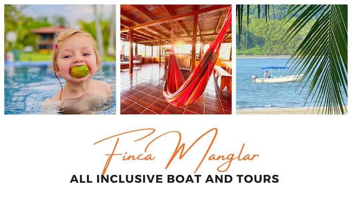 Finca Manglar-boat, horses, pool, tours included