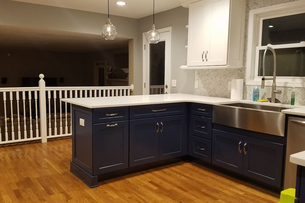 Updated kitchen - View from the dinning room
