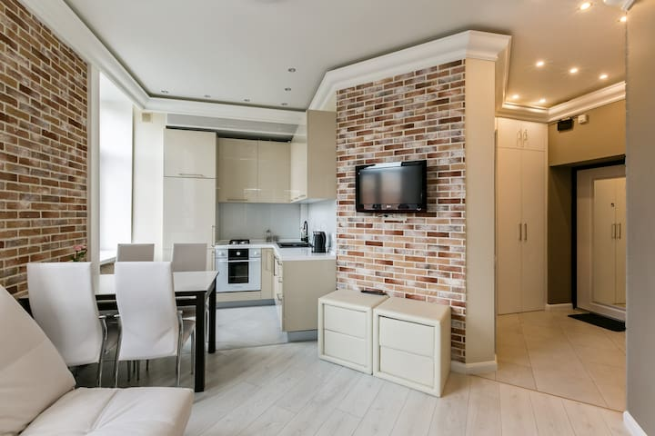 New modern flat in the centre of Moscow.