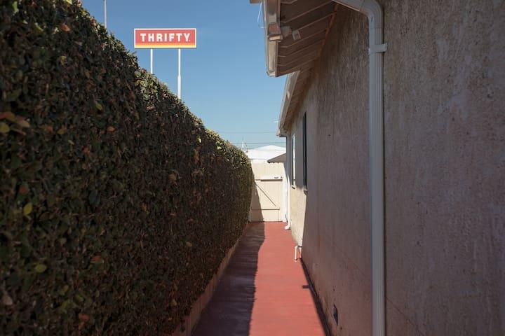 Corridor leading to room
