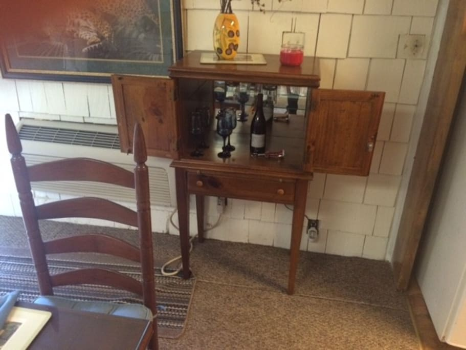 Bar features a complimentary bottle of wine