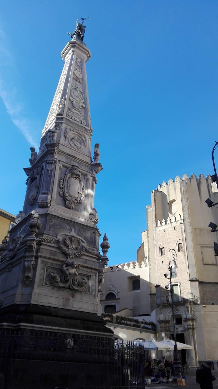 The obelisk of Piazza San Domenico