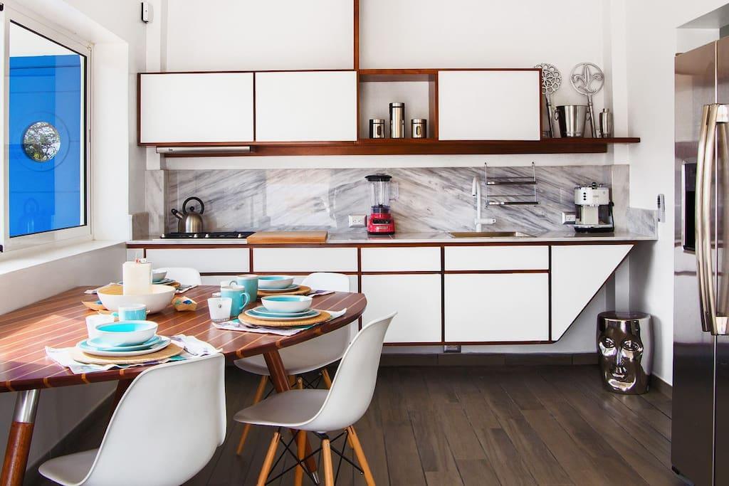 Cucina privata nell'appartamento