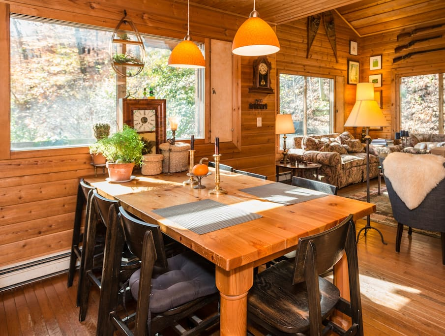 Eat a gourmet dinner @ our vintage pine table. Dinner reservations need to made in advance.