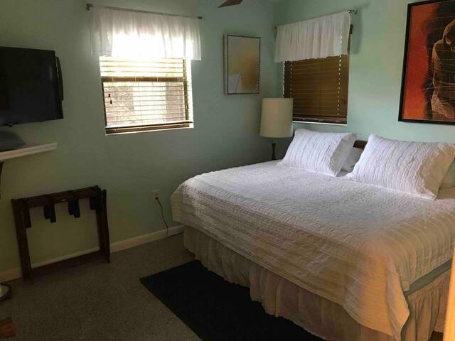 Queen bedroom in Tampa Bay by the ocean!