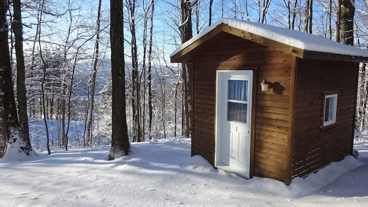 Cabine chauffée en forêt