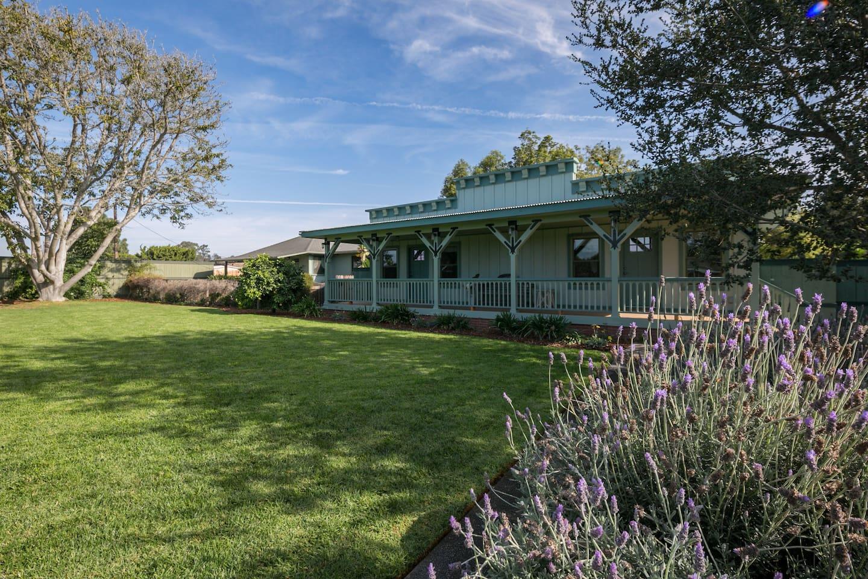 Our newly rebuilt Bunkhouse overlooks an expansive garden.