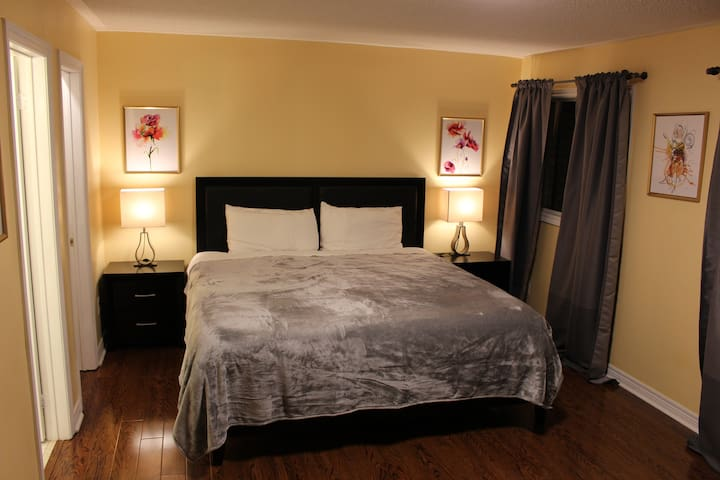 Spacious bright master bedroom with insuite BR