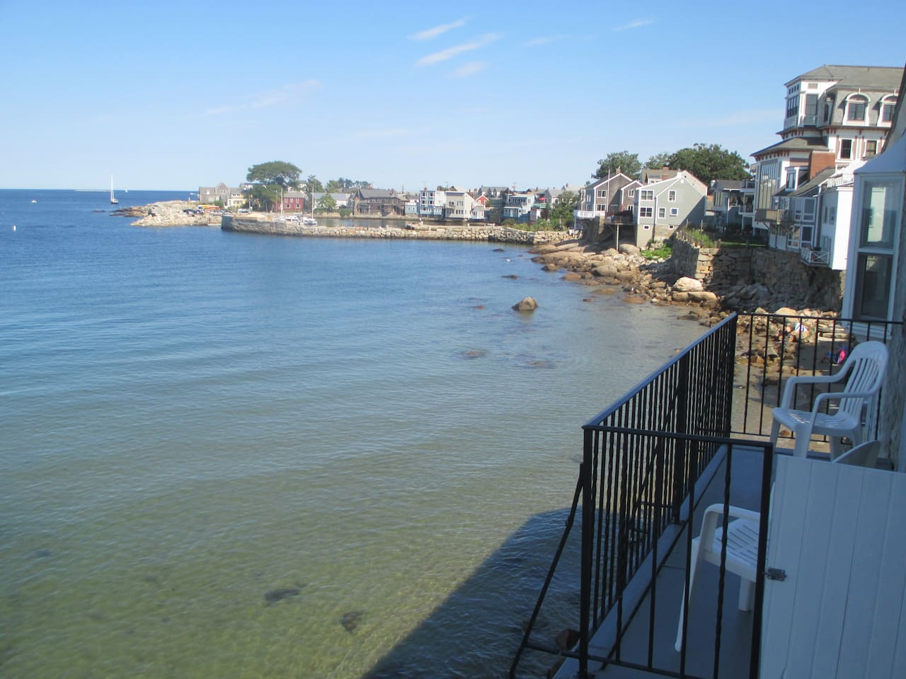 Looking toward Bearskin Neck from deck