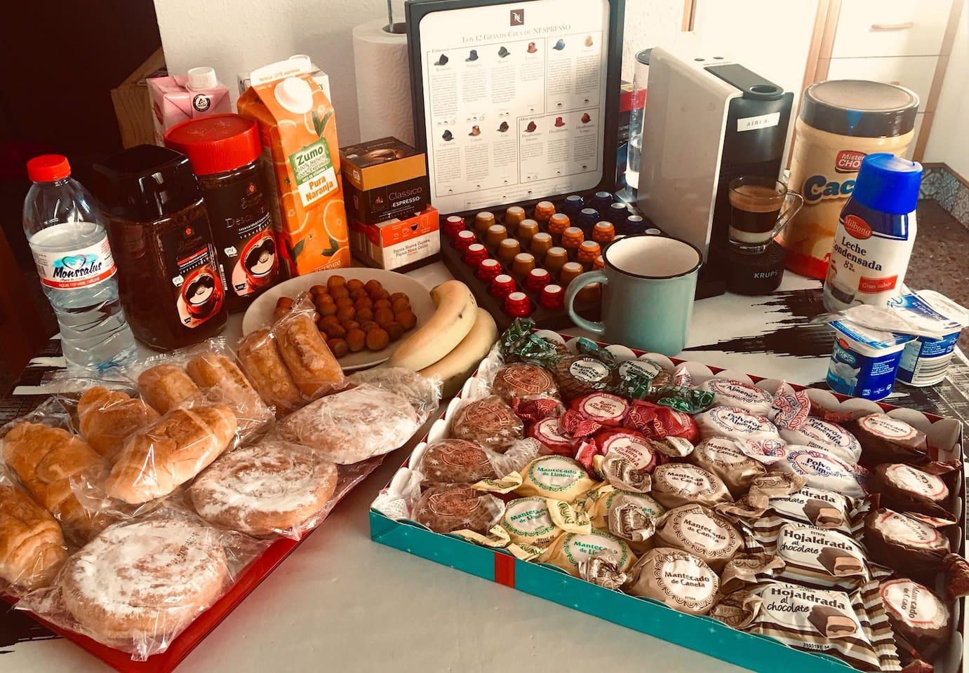Desayuno Breakfast incluido...