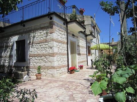 Abruzzo in Majella Park, Private Garden Apartment.