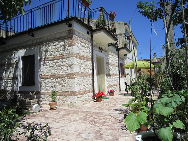 Abruzzo in Majella Park, Private Garden Apartment.