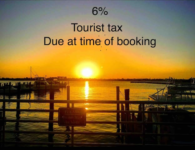 Tourist tax are due at time of booking. Airbnb is not able to get this tax for us At this time. So we have to request it from our guest to Pay Palm Beach County . This could be collected through the resolution center or in cash at time of check-in.