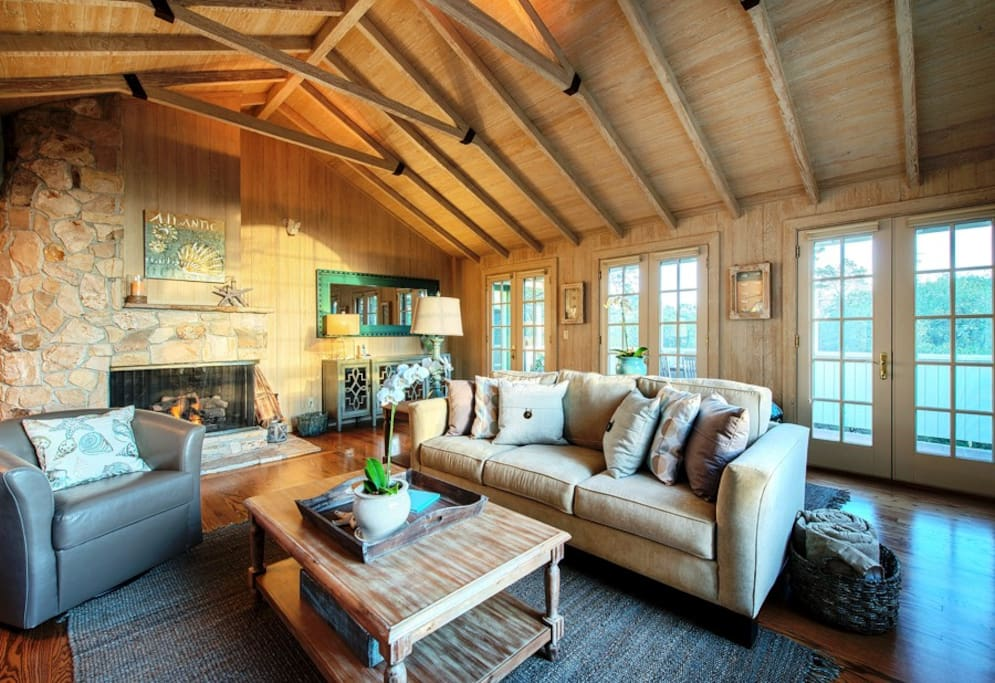 Spacious living room with great attention to detail.