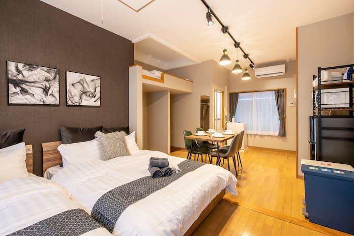 Asakusa.Ueno/9 min Sta./Cozy room/PocketWiFi#102