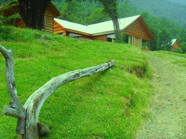 Cabañas en la montaña  y experiencias campesinas .