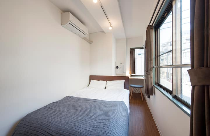 ASAKUSA 5mins/Private room/Newly built/Double