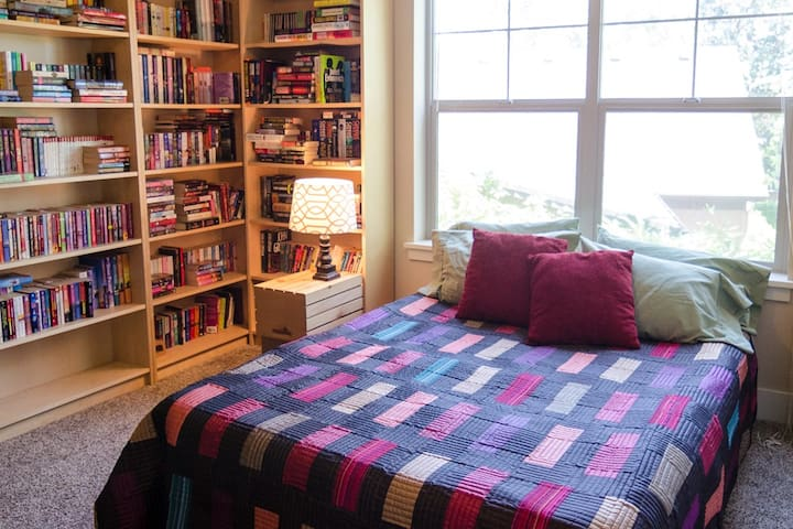 The second bedroom with a top quality queen air mattress.