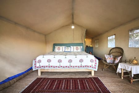 Interior of our Riverside Tent