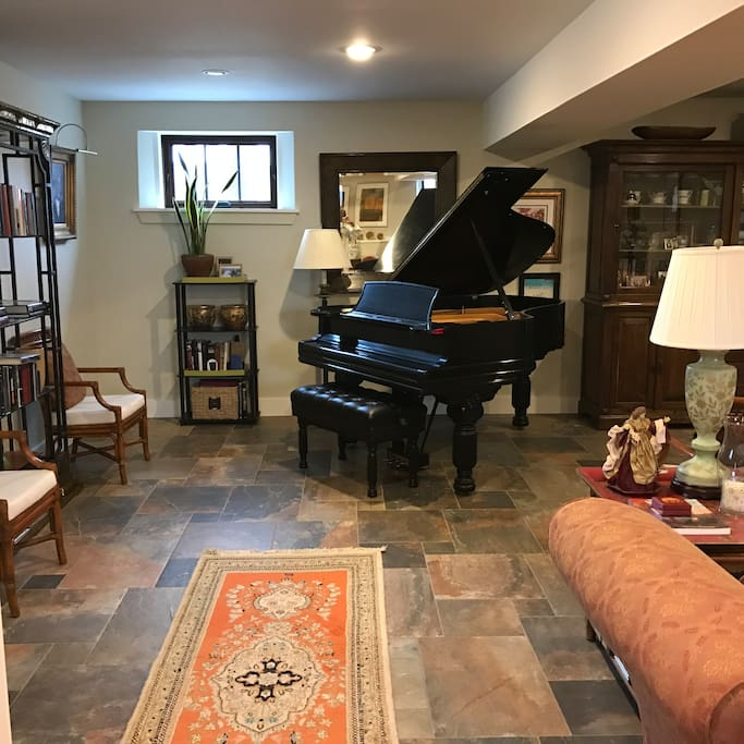 Lower Level Living and Music Room