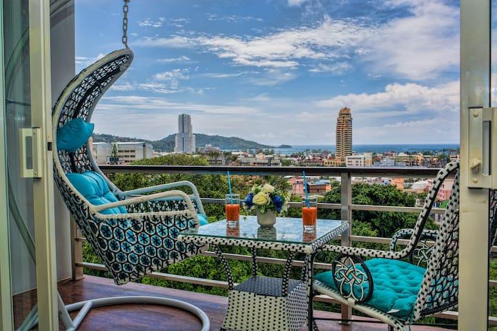 Роскошная квартира с видом на море @Патонг, 50квм