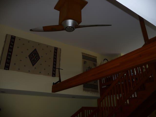 8' antique wood airplane propeller, slow ceiling fan