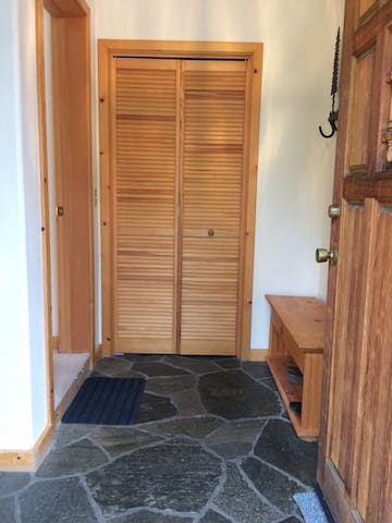 Entry with closet for guests