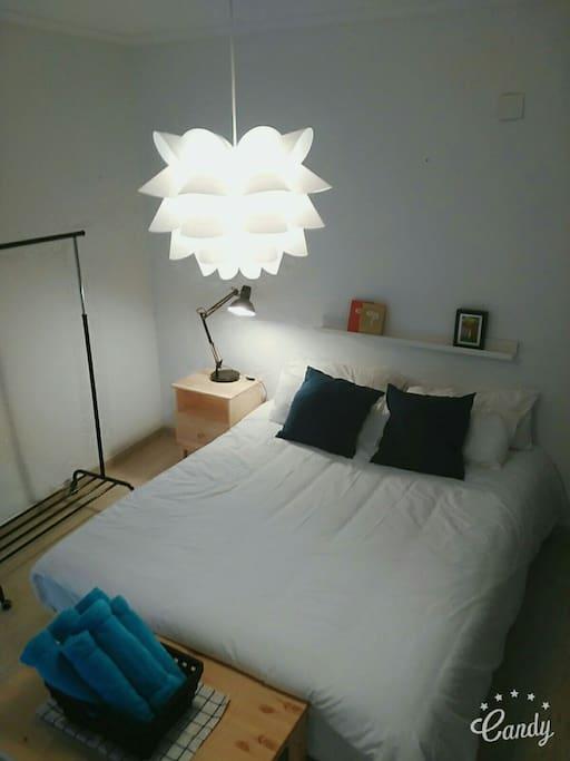 Master bedroom with 2 balconies
