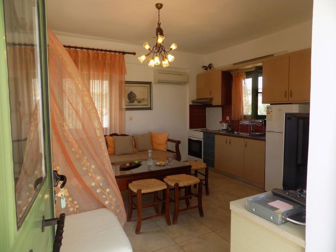Villa B - Living room and Kitchen