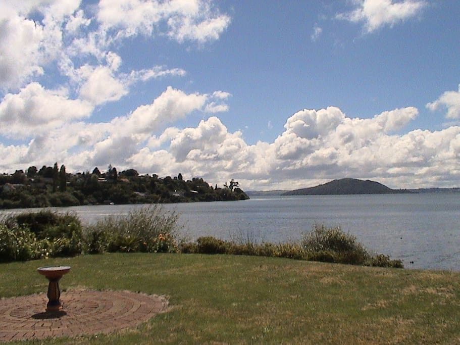 View from the lawn towards Mokoia Island
