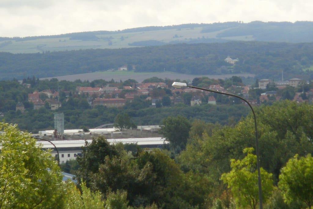 View of Weimar from hiking trail / Aussicht ueber Weimar vom Wanderpfad