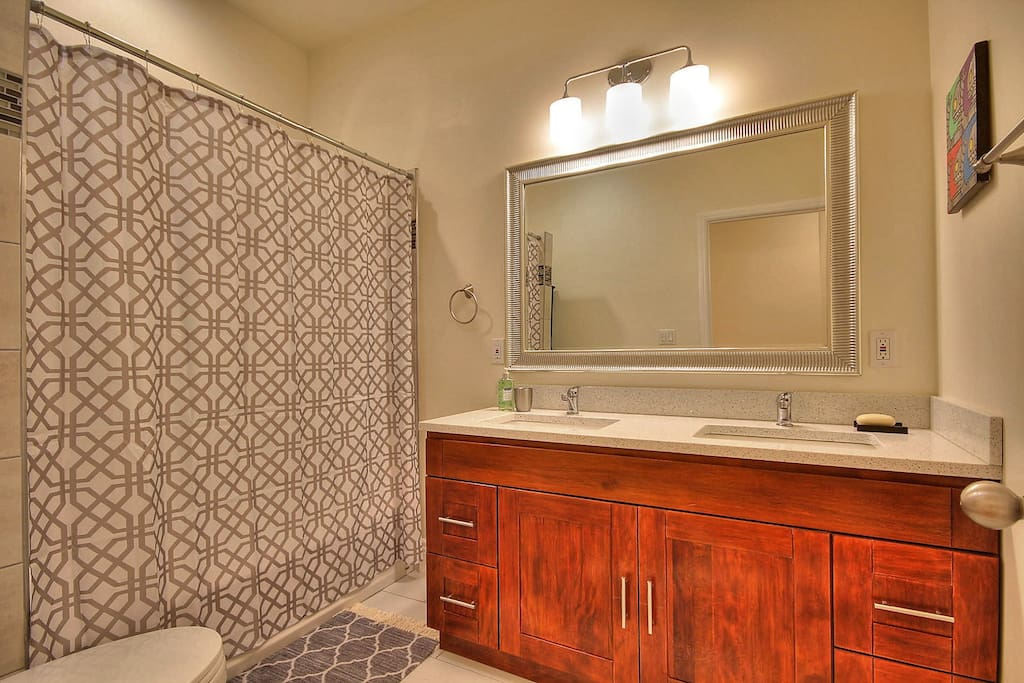 shared bathroom with one other room