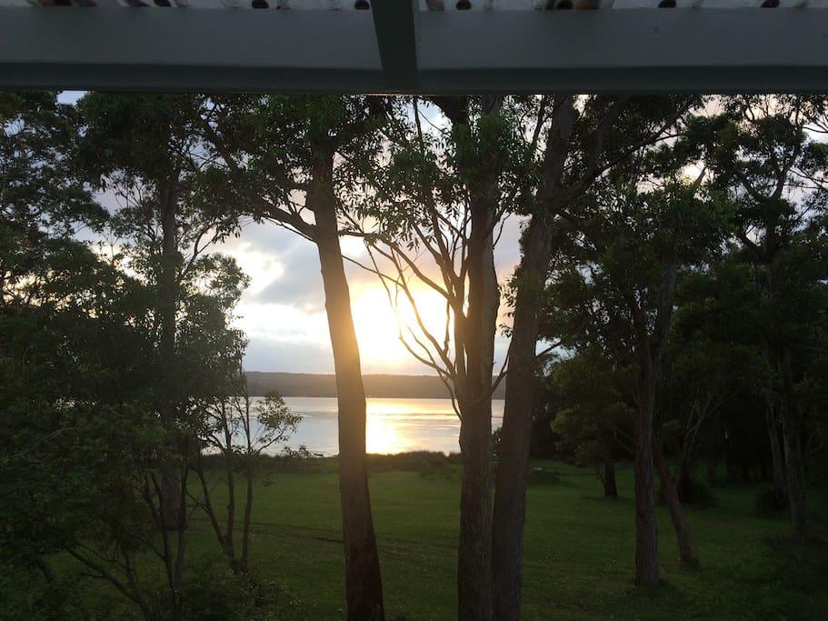 Sunrise from the Verandah