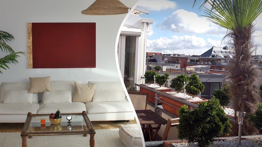 Exclusive rooftop flat near city center - München - Apartment