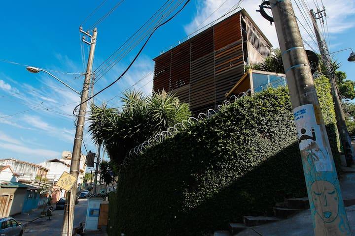 casa cubo sustentável - suíte