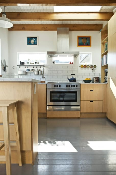 Our beautiful, bright, newly renovated kitchen