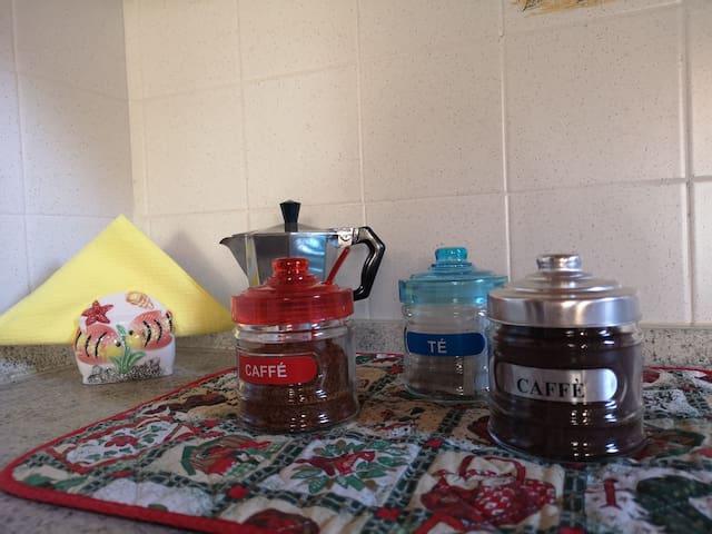 Caffè espresso/solubite e tè a disposizione