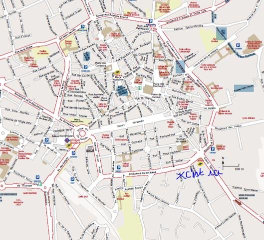 Plan de la ville - L'appartement se situe 18 Chemin Robert 13100 Aix en Provence