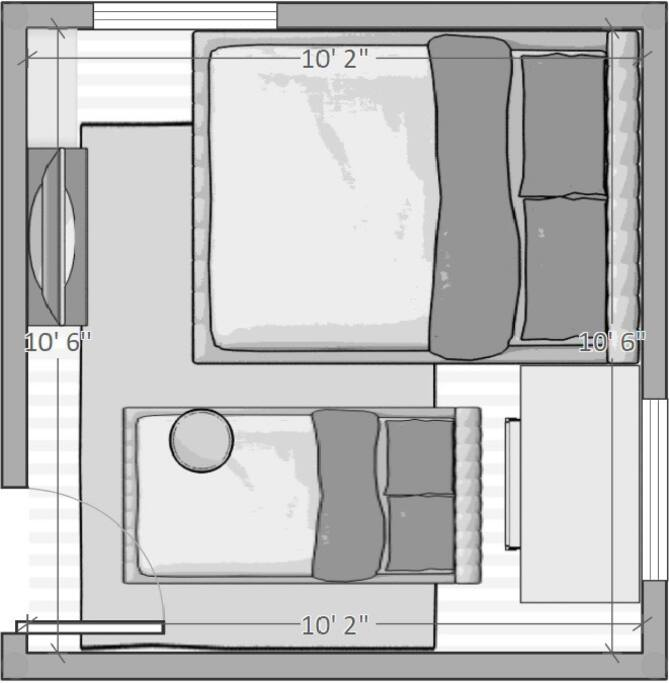 Room Layout with Air mattress