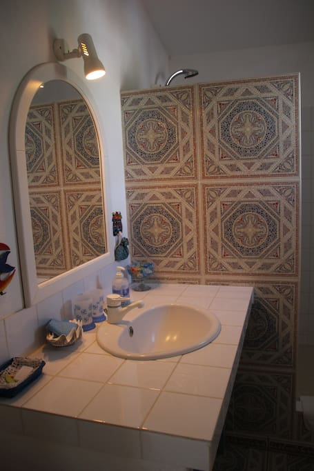 la salle de bain (douche)