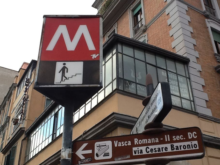 The Metro A Furio Camillo at the corner