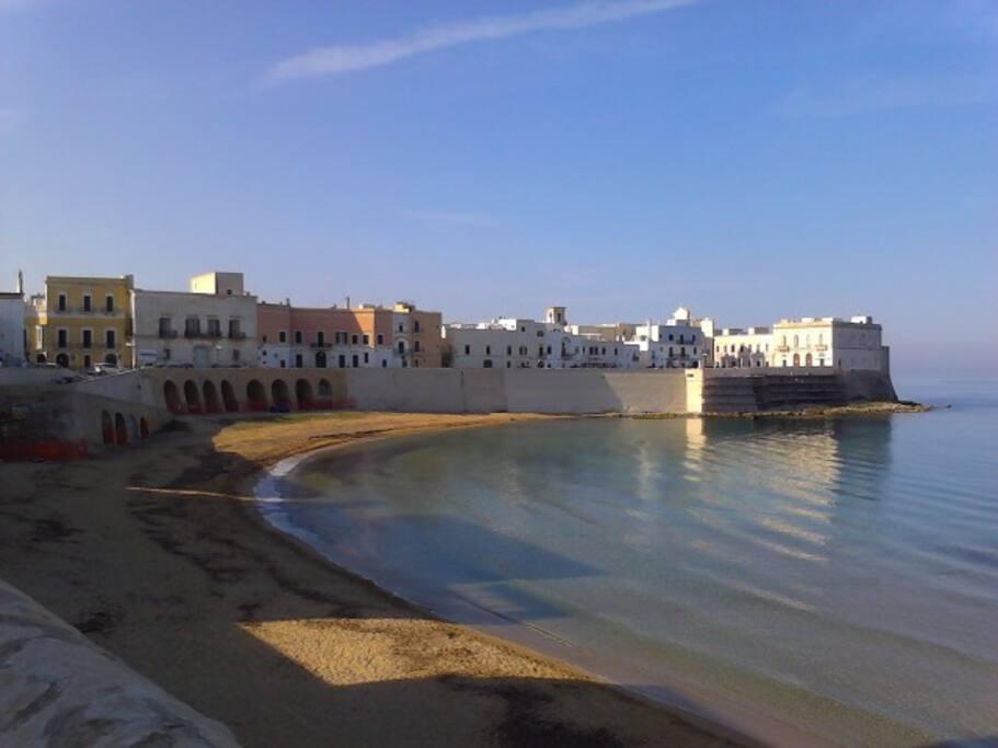 Panoramica spiaggia della Puritate di Gallipoli