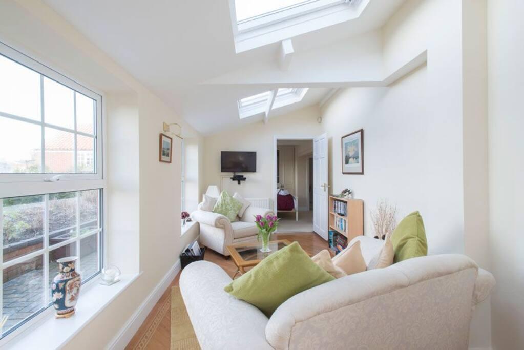 Lounge view towards Bedroom