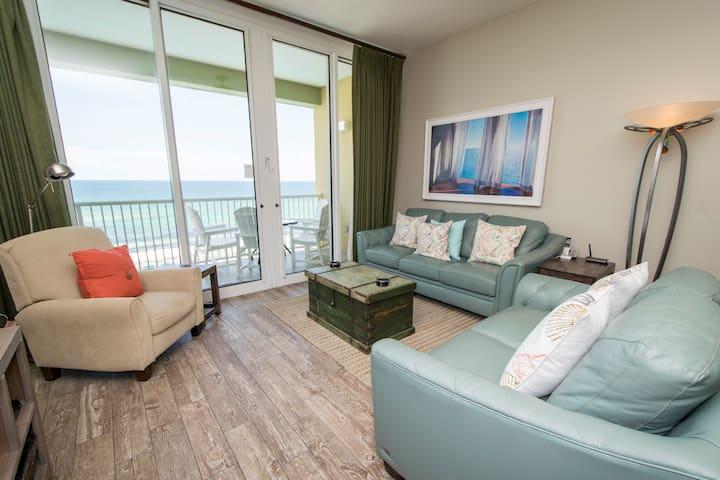 Professionally Designed Beachfront Top-Floor Condo