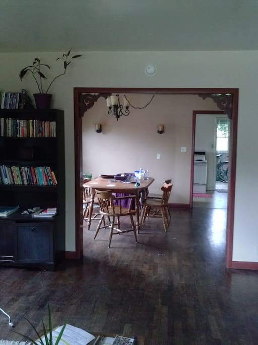 View into the dining room